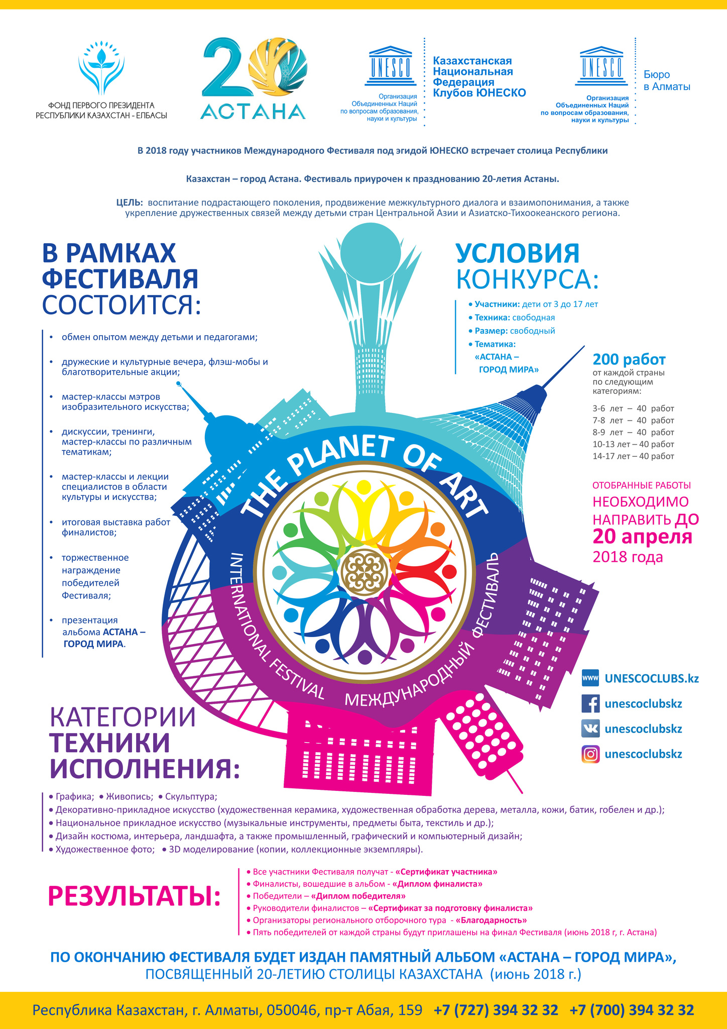 Астана. Международный Фестиваль «Рисуют дети мира»